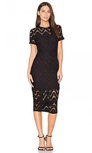 Платье-кроше undulate twenty. Цвет: черный