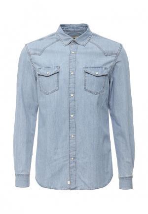 Рубашка джинсовая Mango Man. Цвет: голубой
