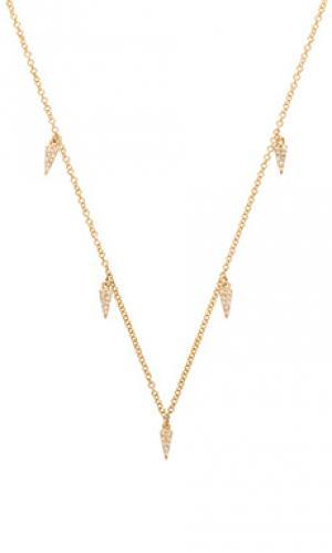 Ожерелье dagger Sachi. Цвет: металлический золотой