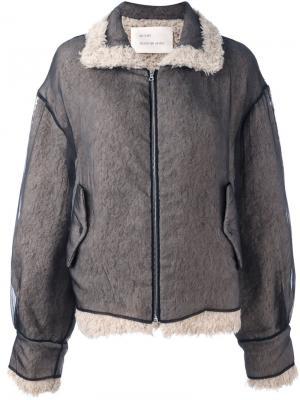 Двухцветная куртка свободного кроя Quetsche. Цвет: чёрный