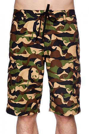 Классические мужские шорты  New Jersey Short Camoustache Enjoi. Цвет: зеленый