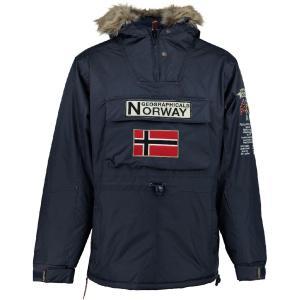 Парка с капюшоном GEOGRAPHICAL NORWAY. Цвет: синий морской,черный