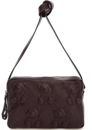 Маленькая кожаная сумка с двумя отделами Io Pelle. Цвет: фиолетовый
