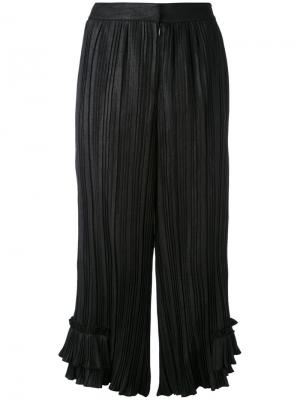 Pleated ruffle leg trousers LAutre Chose L'Autre. Цвет: чёрный