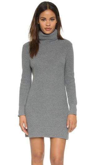Платье-свитер из толстого гладкого хлопкового трикотажа 525 America. Цвет: умеренно-серый меланж