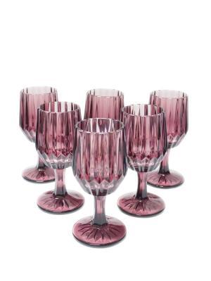 Набор бокалов Вэлиант для вина из цветного стекла, 6шт. DEEPOT. Цвет: фиолетовый