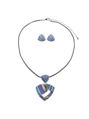 Комплект Fiore Lune. Цвет: бирюзовый, серый, фиолетовый