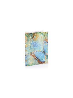 Обложка на паспорт Бабочка голубом Eshemoda. Цвет: голубой