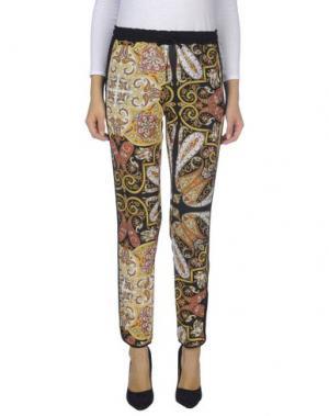 Повседневные брюки AINEA. Цвет: желтый