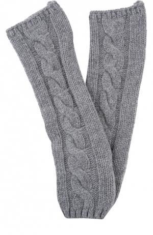 Вязаные митенки из кашемира Kashja` Cashmere. Цвет: серый