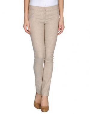 Повседневные брюки MAURO GASPERI. Цвет: песочный