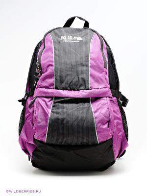 Рюкзак Polar. Цвет: черный (осн.), фиолетовый (осн.)