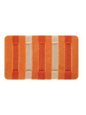 Комплект ковриков  LCADESI HIGH MONO из 2шт. 50х80см, Colorline оранжевый, Турция L CADESI. Цвет: оранжевый