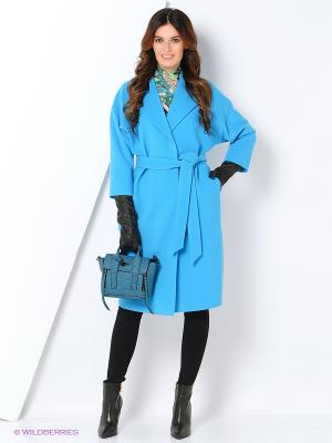 Пальто RUXARA. Цвет: бирюзовый