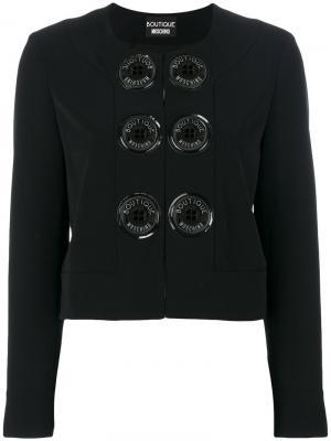 Пиджак с декоративными пуговицами Boutique Moschino. Цвет: чёрный