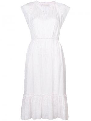 Платье с цветочным узором Ulla Johnson. Цвет: розовый и фиолетовый