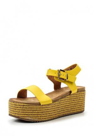 Босоножки Mellisa. Цвет: желтый