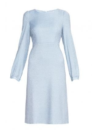 Платье из хлопка 173142 Villa Turgenev. Цвет: синий