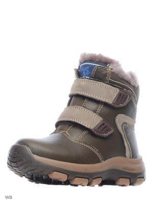 Ботинки PAFI. Цвет: коричневый, темно-зеленый, хаки