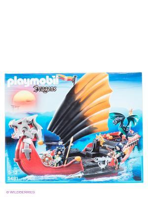 Игровой набор Корабль Дракона Playmobil. Цвет: красный, оранжевый, черный, серый