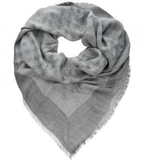Серый платок с логотипом бренда Guess. Цвет: серый