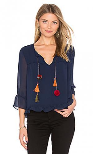 Блузка aleks MISA Los Angeles. Цвет: синий