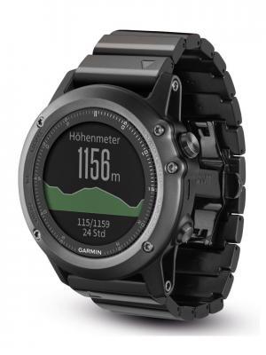 Умные часы Fenix 3 Sapphire с металлическим браслетом GARMIN. Цвет: серый