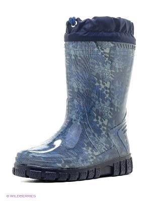 Сапоги резиновые Зебра. Цвет: синий