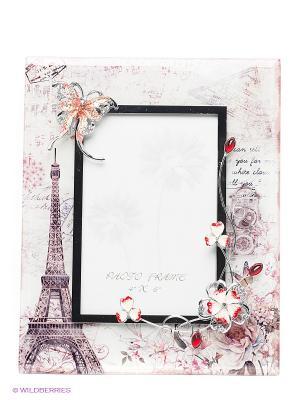 Рамка для фотографии Jardin DEte Романтическое настроение D'ETE. Цвет: серый, серебристый, красный, кремовый
