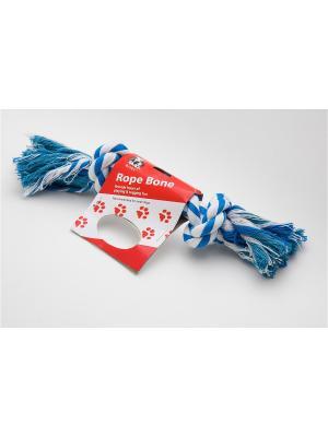 Игрушка канатная 2 узла, 27 см Doggy Style. Цвет: синий, белый
