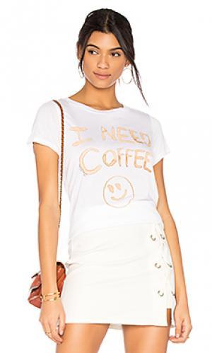 Футболка janie i need coffee Lauren Moshi. Цвет: белый