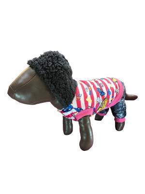 Комбинезон с капюшоном Pet's Fashion. Цвет: розовый