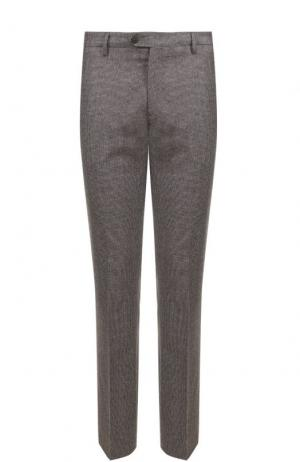 Шерстяные брюки прямого кроя Berwich. Цвет: светло-коричневый