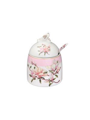 Горшочек для меда Орхидея на розовом Elan Gallery. Цвет: белый, розовый