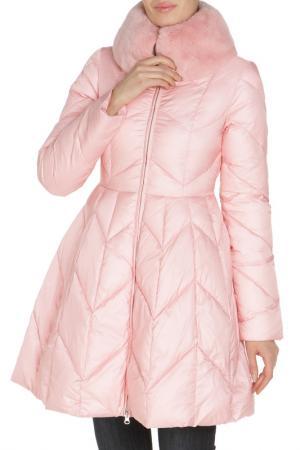 Полуприлегающая куртка с карманами Clasna. Цвет: розовый