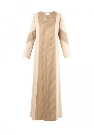 Платье Bella Kareema. Цвет: бежевый