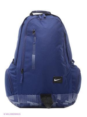 Рюкзак NIKE. Цвет: синий, белый, черный