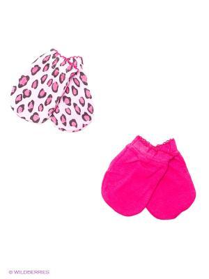 Антицарапки, 2 пары Luvable Friends. Цвет: бледно-розовый, розовый