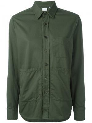 Пиджак рубашечного кроя Aspesi. Цвет: зелёный