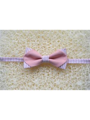Галстук-бабочка BOB Accessories. Цвет: розовый, белый