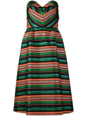 Полосатое платье Delpozo. Цвет: многоцветный