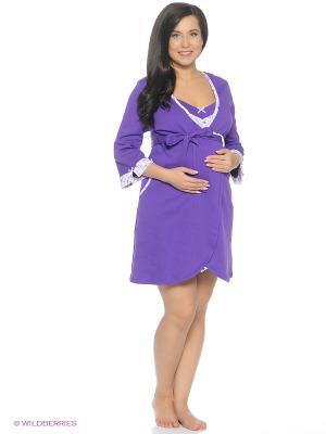 Комплект одежды EUROMAMA. Цвет: темно-фиолетовый, фиолетовый, белый