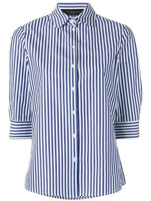 Полосатая поплиновая рубашка Federica Tosi. Цвет: синий