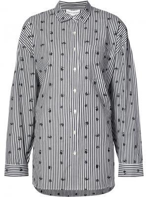 Рубашка в тонкую полоску Robert Rodriguez. Цвет: чёрный