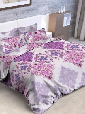Комплект постельного белья, 2,0-сп Letto. Цвет: сиреневый, фиолетовый