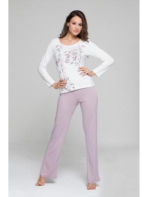 Комплект кофта и брюки MARIPOSA. Цвет: сиреневый