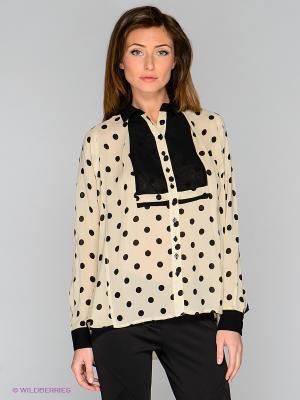 Блузка Isabel de Pedro. Цвет: бежевый, черный