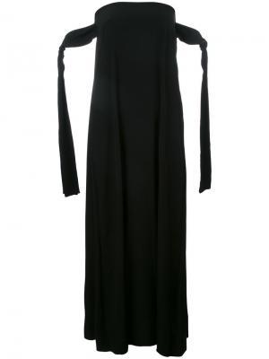 Платье-шифт без бретелек Erika Cavallini. Цвет: чёрный
