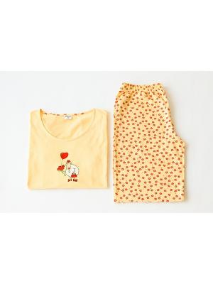 Пижама Proto. Цвет: желтый
