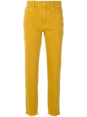Укороченные джинсы Isabel Marant Étoile. Цвет: жёлтый и оранжевый